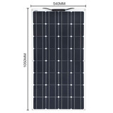 100w Solar Panel Semi Flexible 200W Solar System Photovoltaic for 12v Battery Yacht RV Car Boat Char