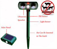 Waterproof Mole Repeller Outdoor Solar Powered Ultrasonic Animal Repeller With PIR Sensor Protect Yo