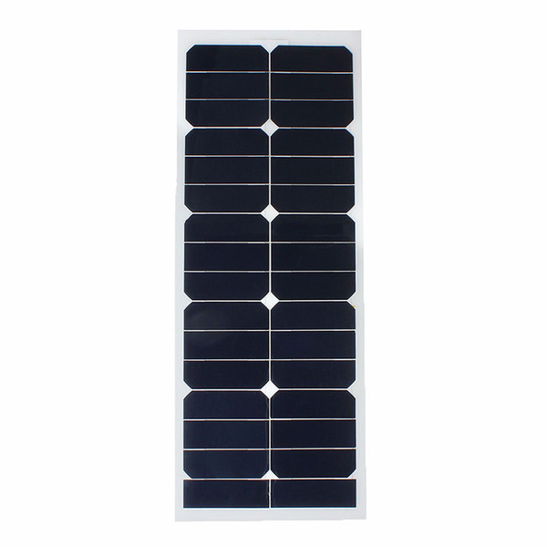 12V 18V 24V Top Quality ETFE PET lamination Sunpower Cell Semi Flexible Solar Panel