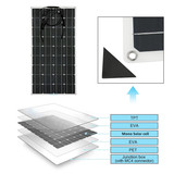 12V 18V 24V Top Quality ETFE Tech High Efficiency Sunpower Cell Semi Flexible Solar Panel 80W 100W
