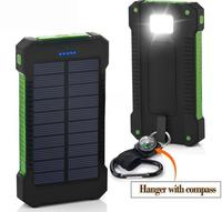 Waterproof Mobile Cell Phone Charger Solar Power Bank Charger 8000Mah 10000mah